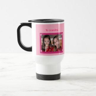 Rosa personalizado de la taza con el capítulo