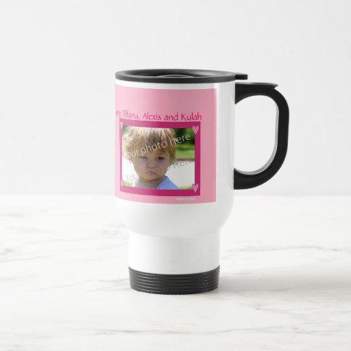 Rosa personalizado de la taza con el capítulo rosa
