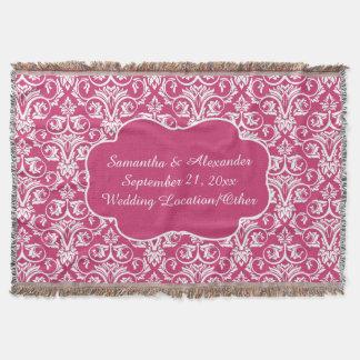 Rosa personalizado del personalizado del boda/del manta