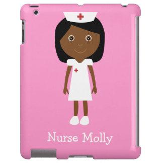 Rosa personalizado enfermera étnica linda del dibu