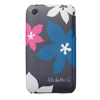 Rosa personalizado estampado de flores moderno funda para iPhone 3 de Case-Mate