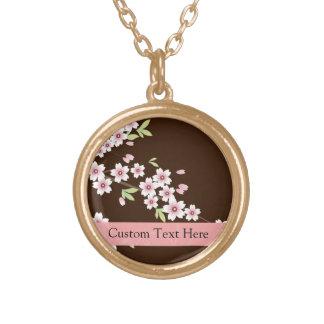 Rosa personalizado/flor del Dogwood de Brown Collar Dorado