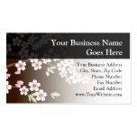 Rosa personalizado/flor del Dogwood de Brown Tarjetas De Negocios