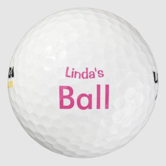 ROSA personalizado Pack De Pelotas De Golf