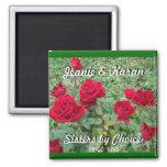 Rosa-personalizar miniatura imanes de nevera
