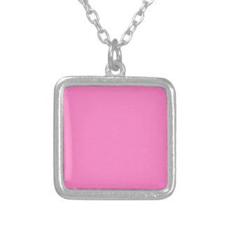 ¡Rosa positivamente bonito P26! Color Collar Plateado