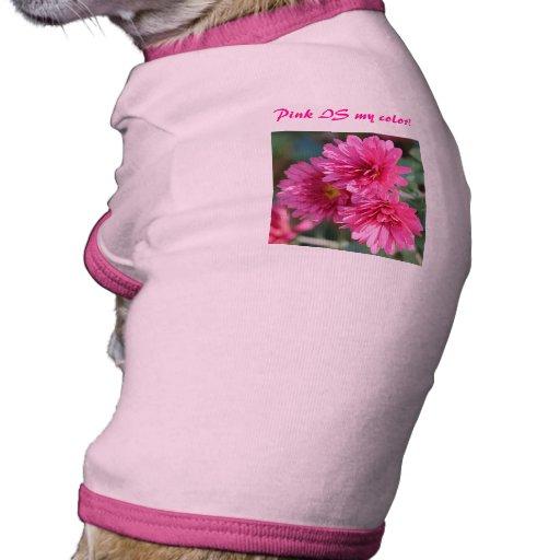 ¡Rosa precioso para su mascota precioso! Camiseta Con Mangas Para Perro