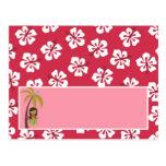 Rosa programable Luau hawaiano de la tarjeta del l Postal