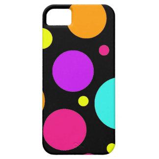 Rosa púrpura anaranjado negro del trullo de los lu iPhone 5 carcasas
