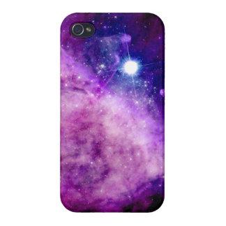 Rosa púrpura de la nebulosa de la estrella de Gl d iPhone 4 Carcasas