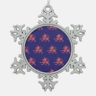 Rosa púrpura de los dragones adorno