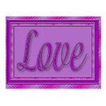 Rosa púrpura del amor tarjeta postal