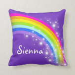 """rosa púrpura del arco iris - chicas """"su"""" almohada"""