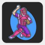 rosa púrpura del colector calcomania cuadradas personalizadas