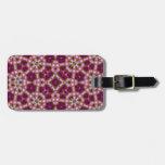 Rosa púrpura del modelo abstracto multicolor etiqueta de equipaje