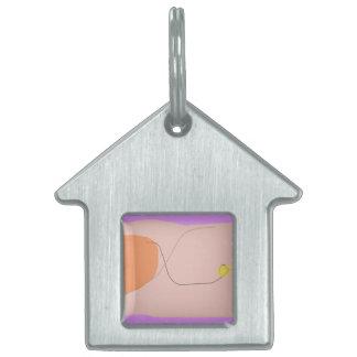 Rosa púrpura del pan placa mascota
