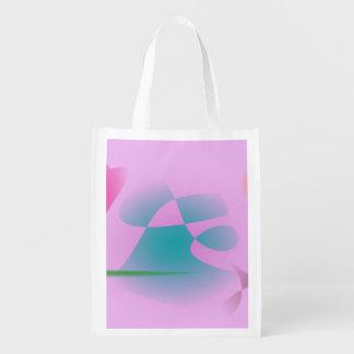 Rosa purpurino bolsas reutilizables