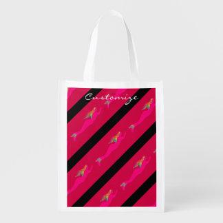 rosa que nada de la sirena arco iris-haired bolsas para la compra
