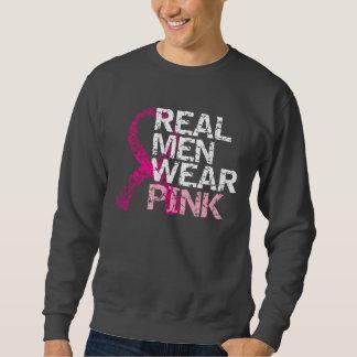 Rosa real del desgaste de hombres - cáncer de sudadera