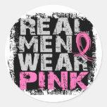 Rosa real del desgaste de hombres del cáncer de etiqueta redonda