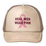 Rosa real del desgaste de hombres para la concienc gorra