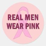 Rosa real del desgaste de hombres para la pegatinas redondas