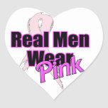 Rosa real del desgaste de hombres pegatina corazón personalizadas