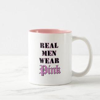 Rosa real del desgaste de hombres taza de café