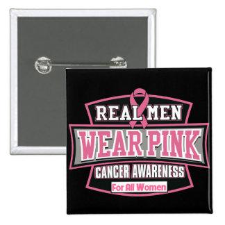 Rosa real para todas las mujeres - cáncer del pin cuadrado
