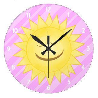 Rosa: Reloj feliz de la sol