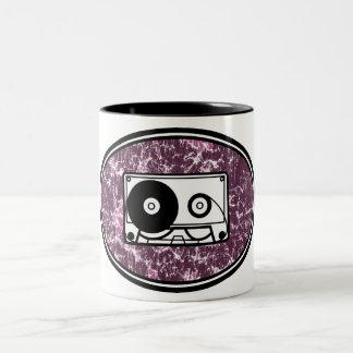 Rosa retro de la cinta de casete taza de café