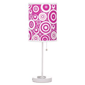 Rosa retro lámpara de escritorio