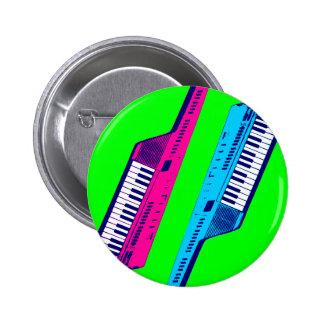 Rosa retro y azul de Keytar de los años 80 del tig Pins