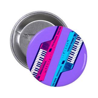 Rosa retro y azul de Keytar de los años 80 del tig Pin