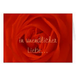rosa roja de los amores felicitacion