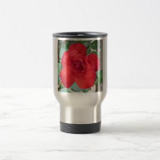 Rosa Roja Flor 15 Oz Stainless Steel Travel Mug