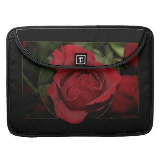 Rosa rojo #1 fundas para macbooks