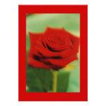 rosa rojo 2 invitación personalizada