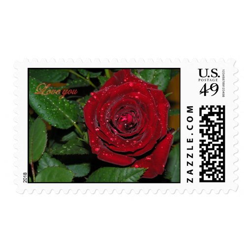 Rosa rojo #2 sello