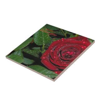 Rosa rojo #2 tejas