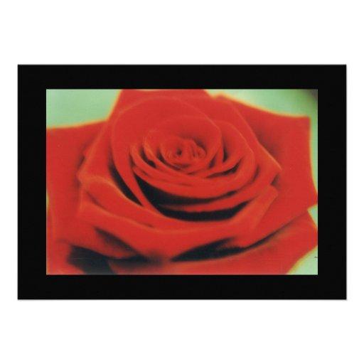 rosa rojo 3 invitación