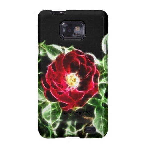 Rosa rojo abstracto samsung galaxy SII carcasa