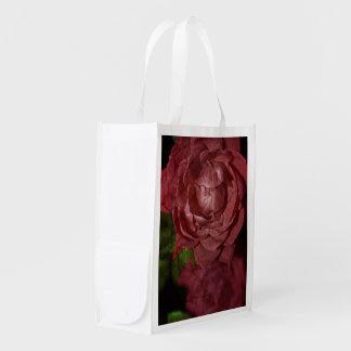 Rosa rojo agrietado bolsa para la compra