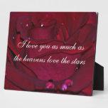 Rosa rojo apasionado placas con fotos