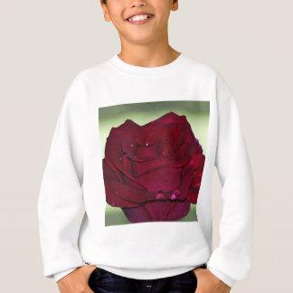 Rosa rojo apasionado sudadera