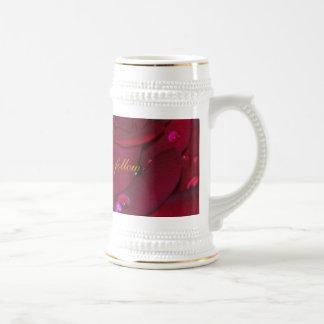 Rosa rojo apasionado taza