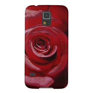 Rosa rojo aumentado Digital en la plena floración Carcasas De Galaxy S5