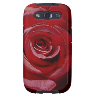 Rosa rojo aumentado Digital en la plena floración Galaxy S3 Cárcasa