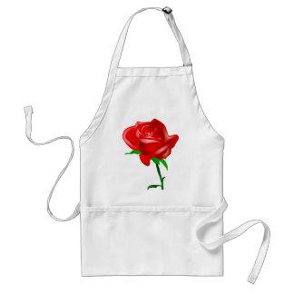 Rosa rojo bonito delantales