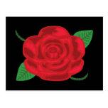 Rosa rojo bonito postal